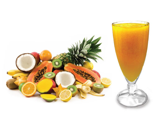 Cocteles tropicales sin alcohol
